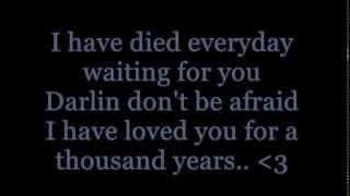 Christina Perri Ft. Steve Kazee - A Thousand Years Lyrics Part 2!