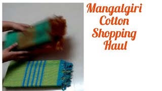 Summer shopping haul - Mangalgiri cotton | Pochampalli design