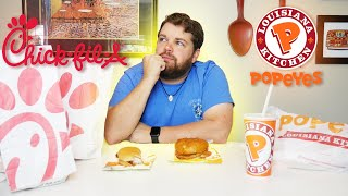 WHICH IS BETTER?! - Chick Fil A vs Popeyes Chicken Sandwich
