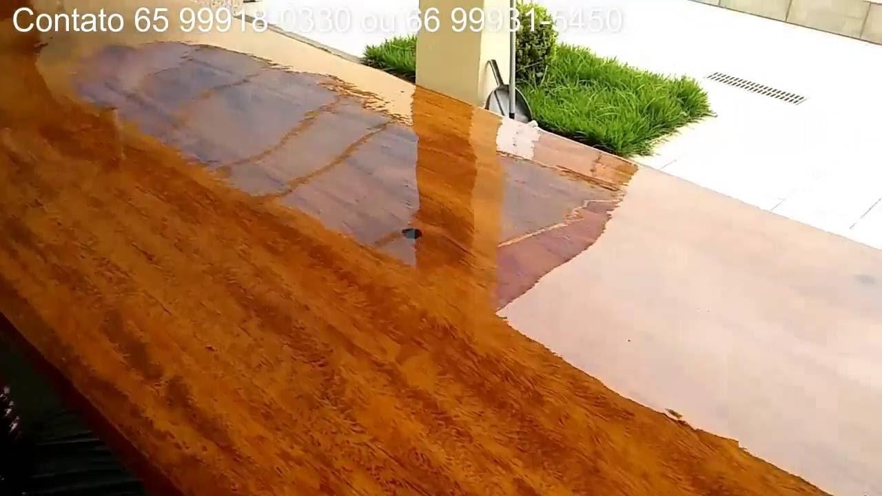 Pintura ep xi em madeira cuiab mt youtube - Pintura de resina ...