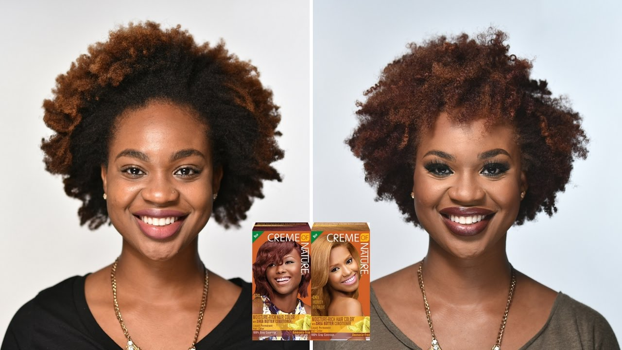 New Hair Color Creme Of Nature Red Hot Burgundy Honey Blonde