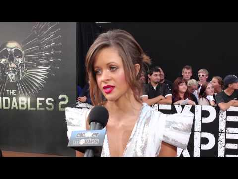 Nikolette Noel Talks 'The Expendables 2' At Premiere