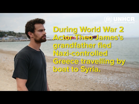 Actor Theo James meets Syrian refugees in Greece