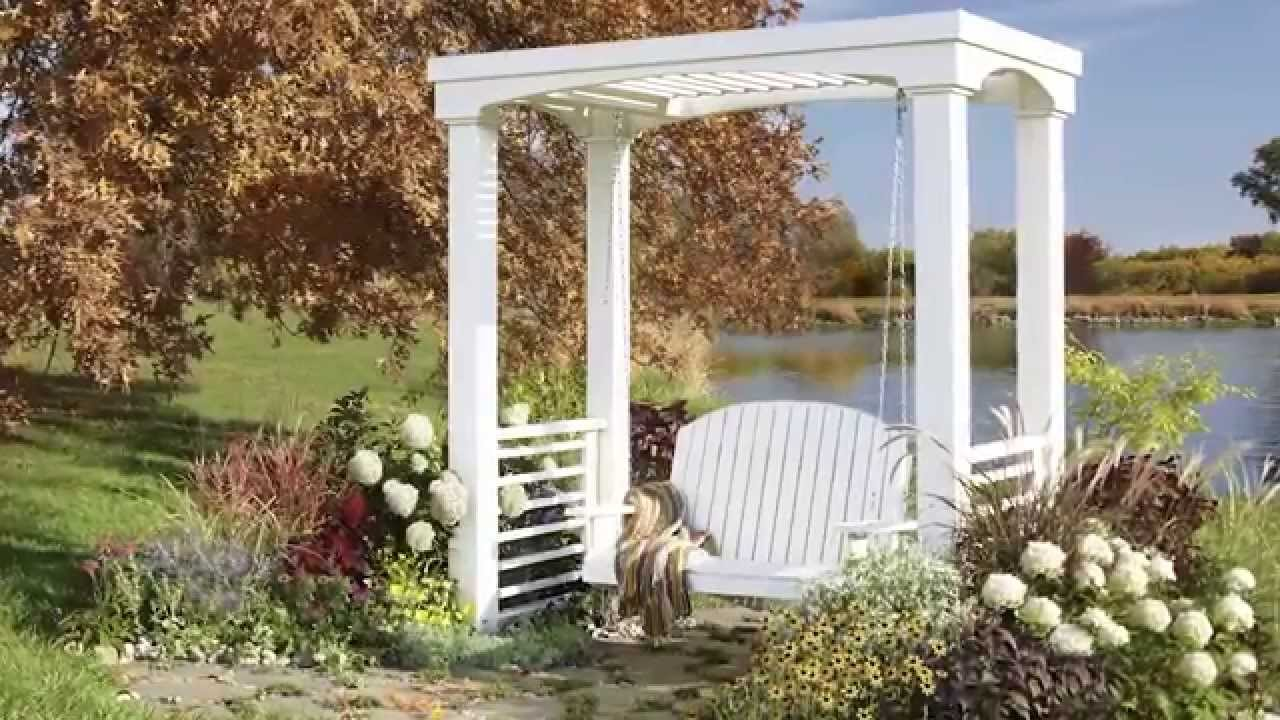 how to build an arbor swing youtube. Black Bedroom Furniture Sets. Home Design Ideas