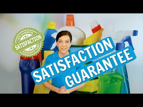 Satisfaction Guarantee for House Cleaning Service