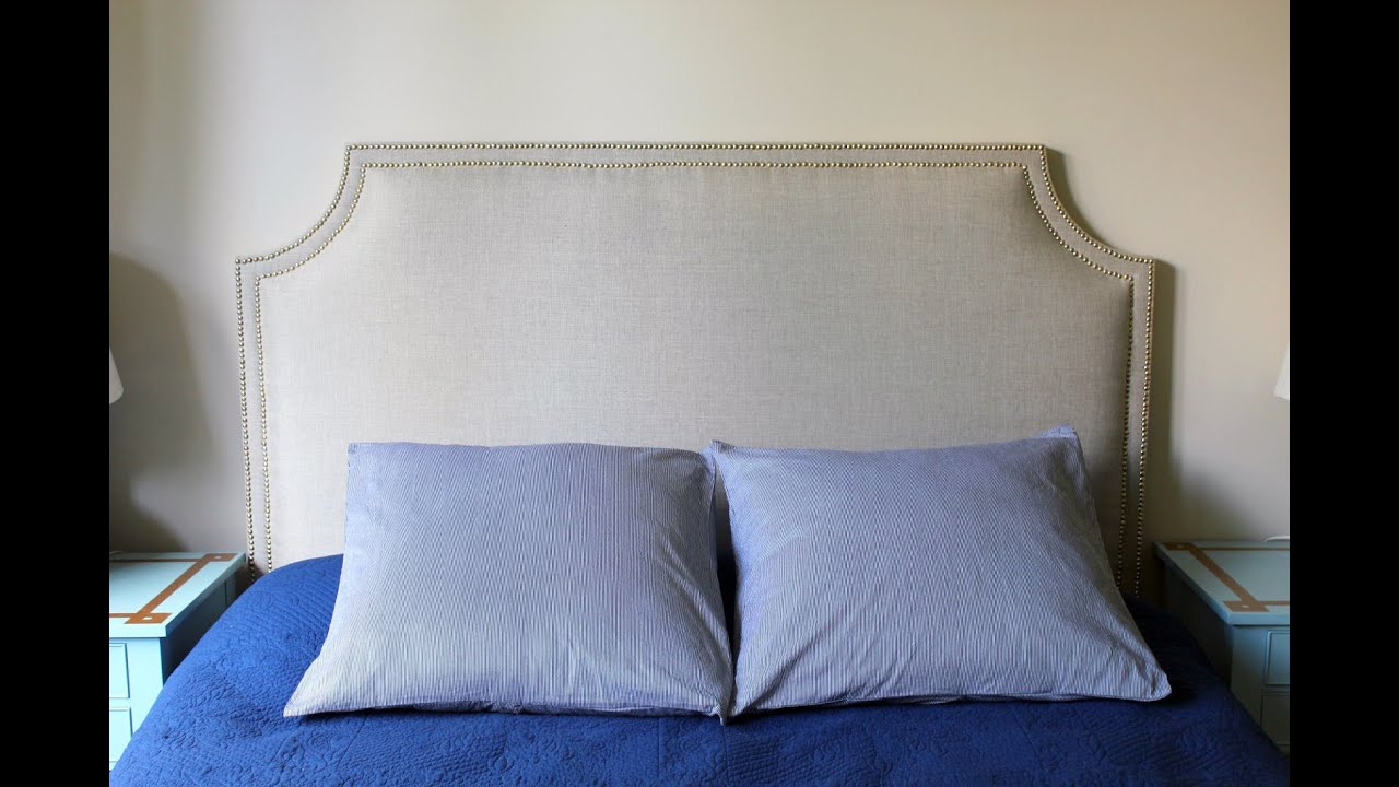 How to cover a headboard - Finest Diy Fabric Headboard Plywood Youtube With How To Make An Easy Headboard