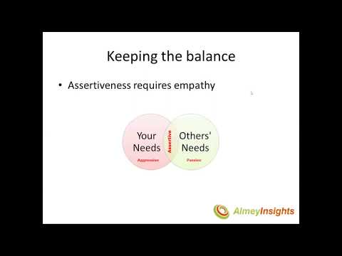 Assertiveness and the Power of NO  --  with Almarie Meyer