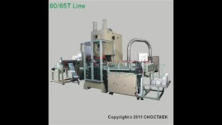 Fully Automatic 60T Aluminium Foil Container Making Machine with Three Cavities Mould