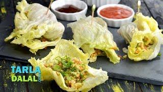 Lettuce Wraps Recipe by Tarla Dalal