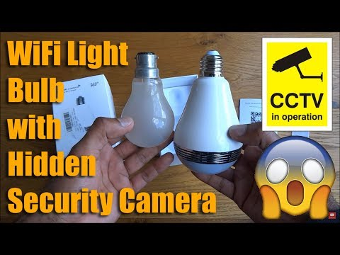 360° Fisheye Panoramic Wifi LED Bulb Light with Spy Camera by MECO [Hands on Review and Test]