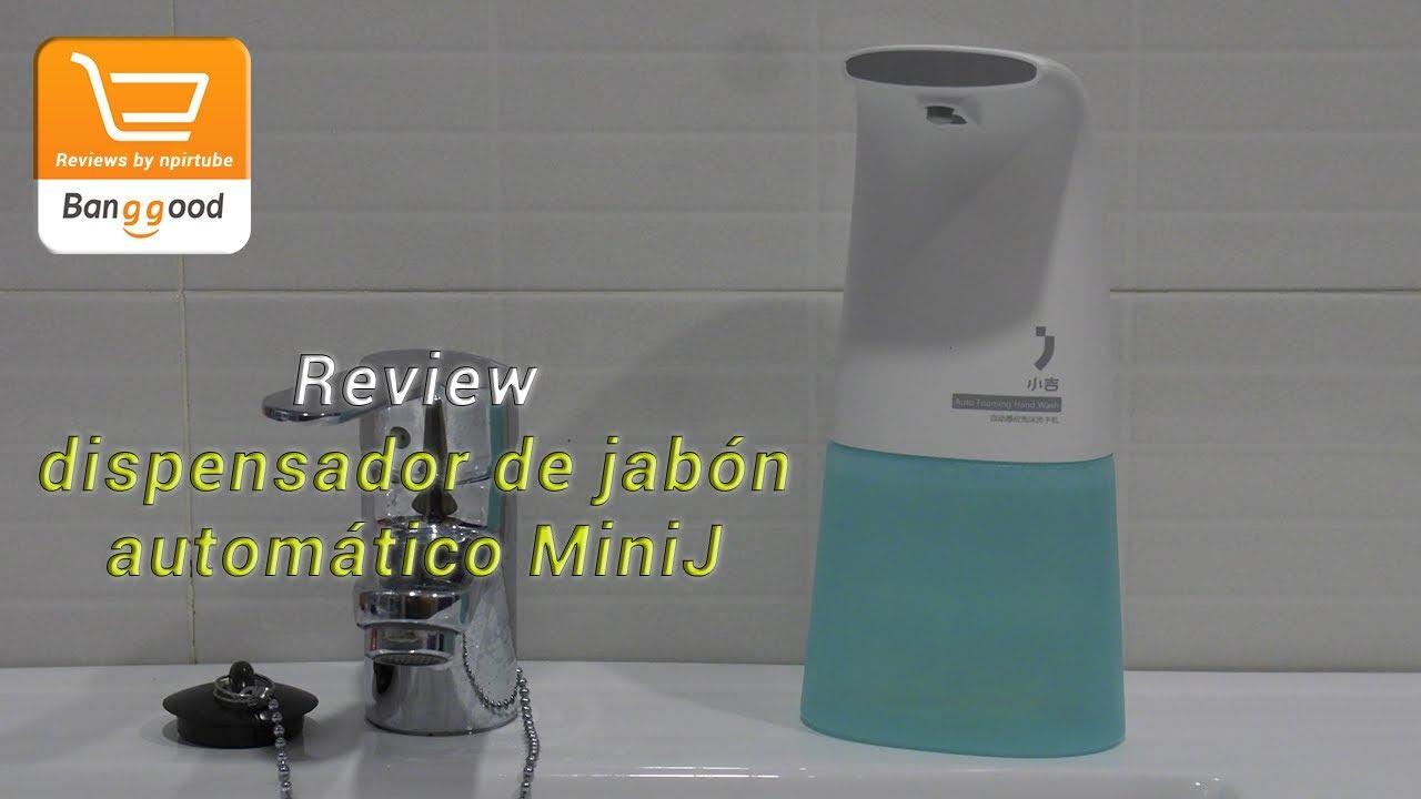 Review dispensador de jab n autom tico minij youtube - Dispensador de jabon automatico ...