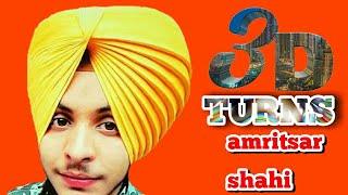 3D amritsar shahi dastar,3D turns pagg, turban king jaskarandeep singh