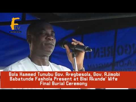 K1 DE ULTIMATE BABATUNDE FASHOLA AREGBESOLA GOV  AJIMOBI AND OTHERS PRESENTS AT BISI AKNADE' WIFE FI