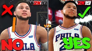 NBA 2K18 vs 2K19 GRAPHICS Comparison - LeBron James, Ben Simmons, Jayson Tatum & More