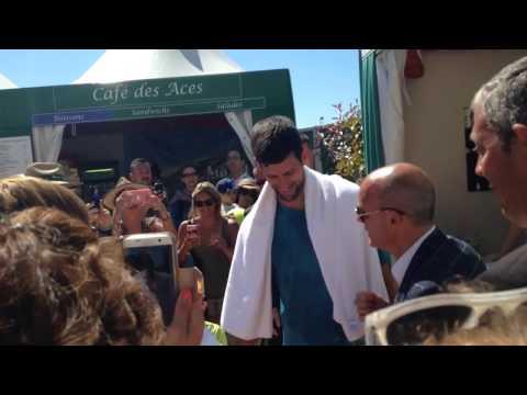 Novak Djokovic visits his own brand shop 17/4/17 - Monte Carlo Rolex masters 2017