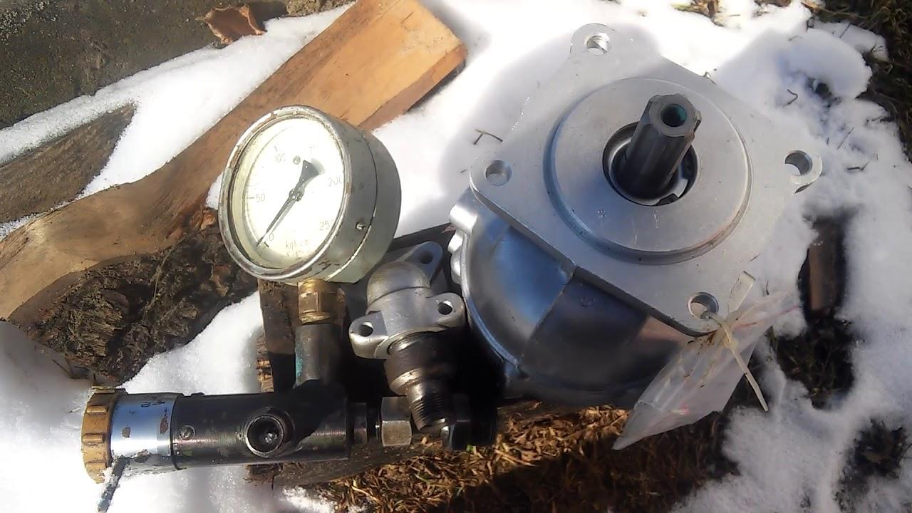 Проверка давления в гидравлике трактора МТЗ