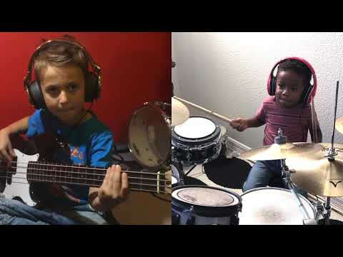 6yr old Aron Hodek and 3yr old Justin Wilson II jam out!