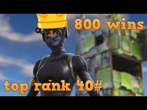 FORTNITE BATTLE ROYALE -800 victorias-top global 36- RECORD