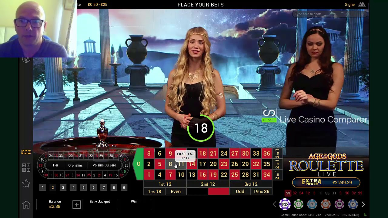 Time live age of the gods roulette express