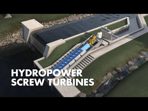 Hydropower Screw Turbines | How it works