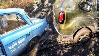 Москвич 412 и дизельный Рено Дастер: посадили!