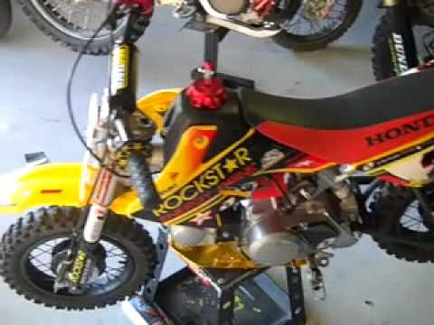 Custom Honda Crf 50cc Pee Wee Race Bike Youtube