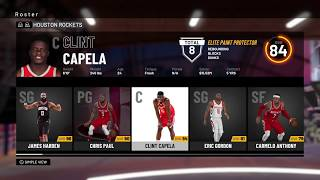 NBA 2K19 - Houston Rockets Roster - All Players Ratings Positions Ages Colleges & Stats