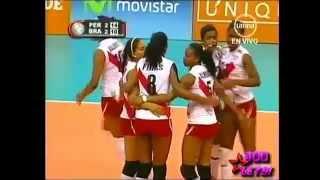 Voley Perú vs Brasil 26-11-12   Quito Set Perú Campeon Sudamericano de Voley de Menores  2012