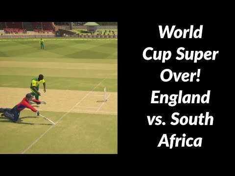 World Cup Super Over | Game 10 - England vs. South Africa | Ashes Cricket 2017