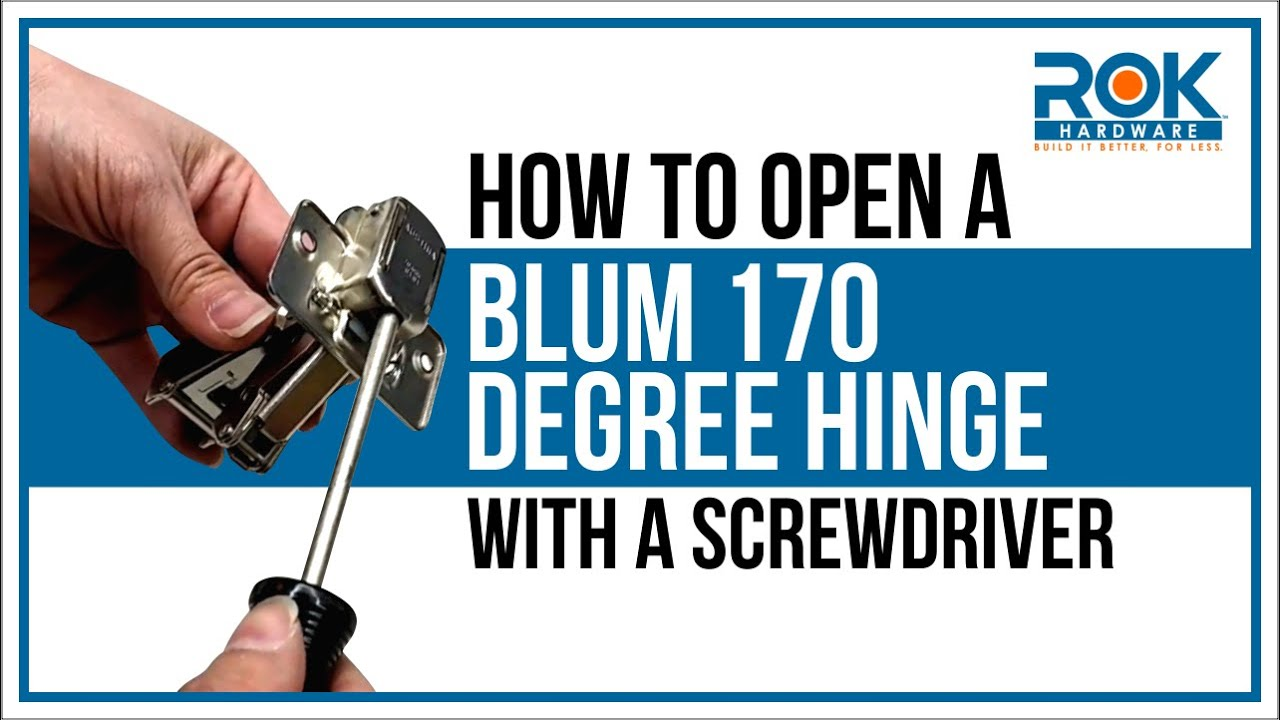 How to Open a Closed Blum 170 Degree Hinge With a Screwdriver - YouTube
