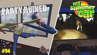 Grill Party Gone Wrong - Moose Crash | My Summer Car