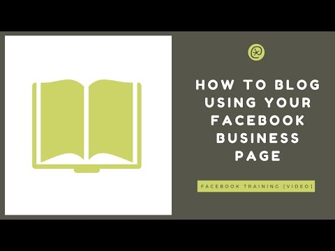 How To Use Facebook Notes To Blog