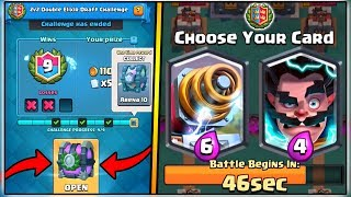 9 WINS 2V2 DOUBLE ELIXIR DRAFT CHALLENGE | CLASH ROYALE | LEGENDARY CHEST OPENING!
