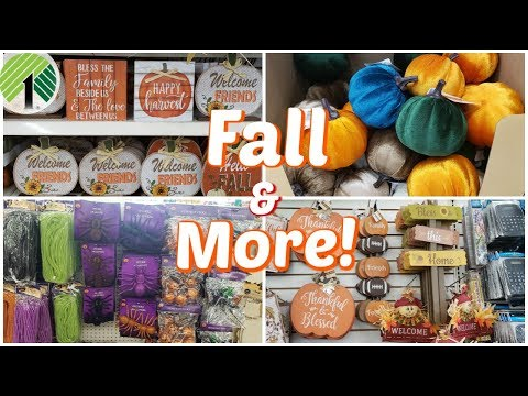 SHOP WITH ME * DOLLAR TREE FALL DECOR NEW HALLOWEEN FINDS JULY 2019