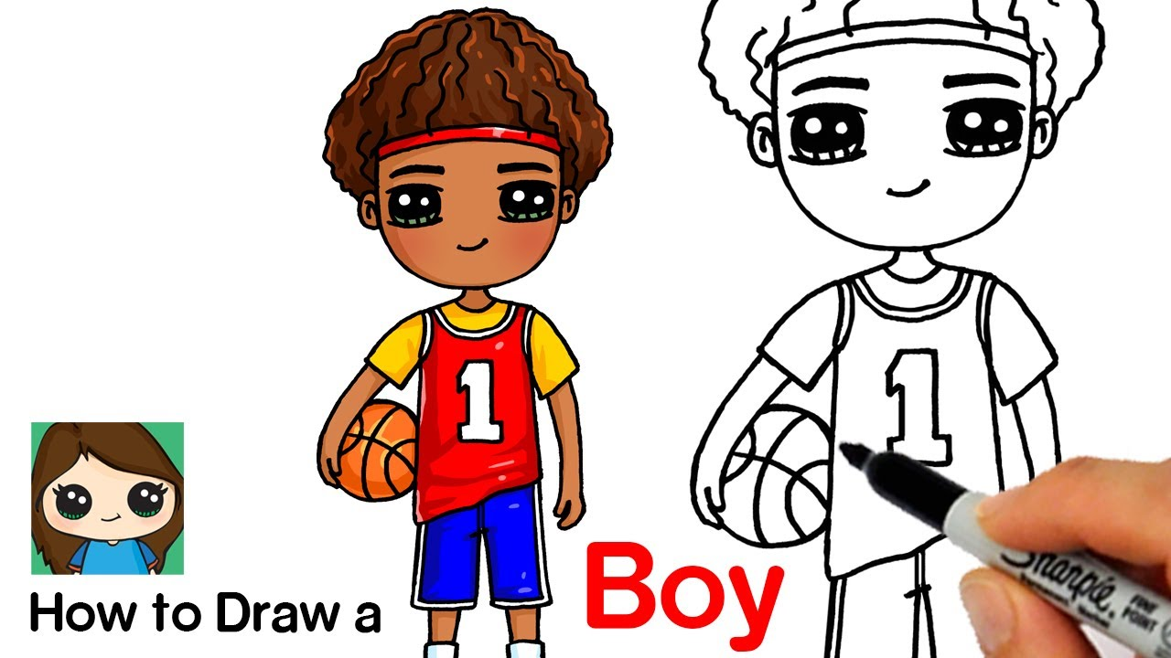 How to Draw a Boy Basketball Player - YouTube