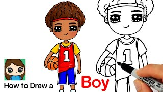 How to Draw a Boy Basketball Player