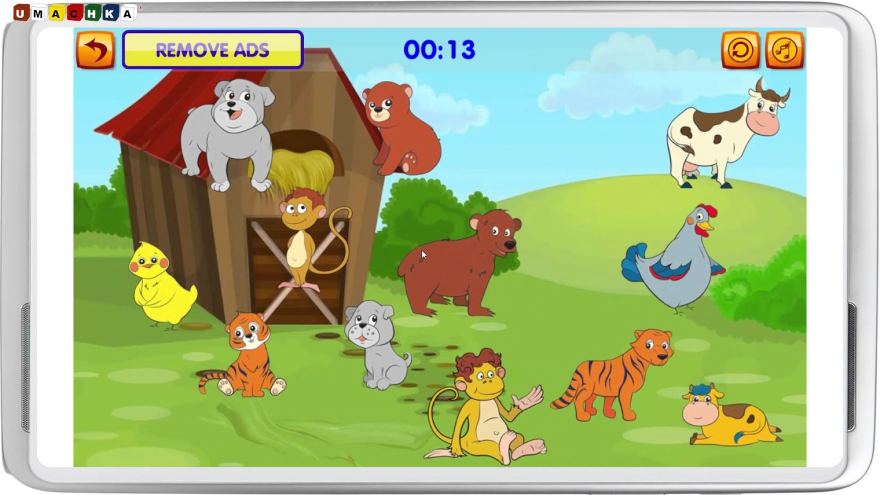 Learning Game for 2 years kids Halves and Pairs ver. 2