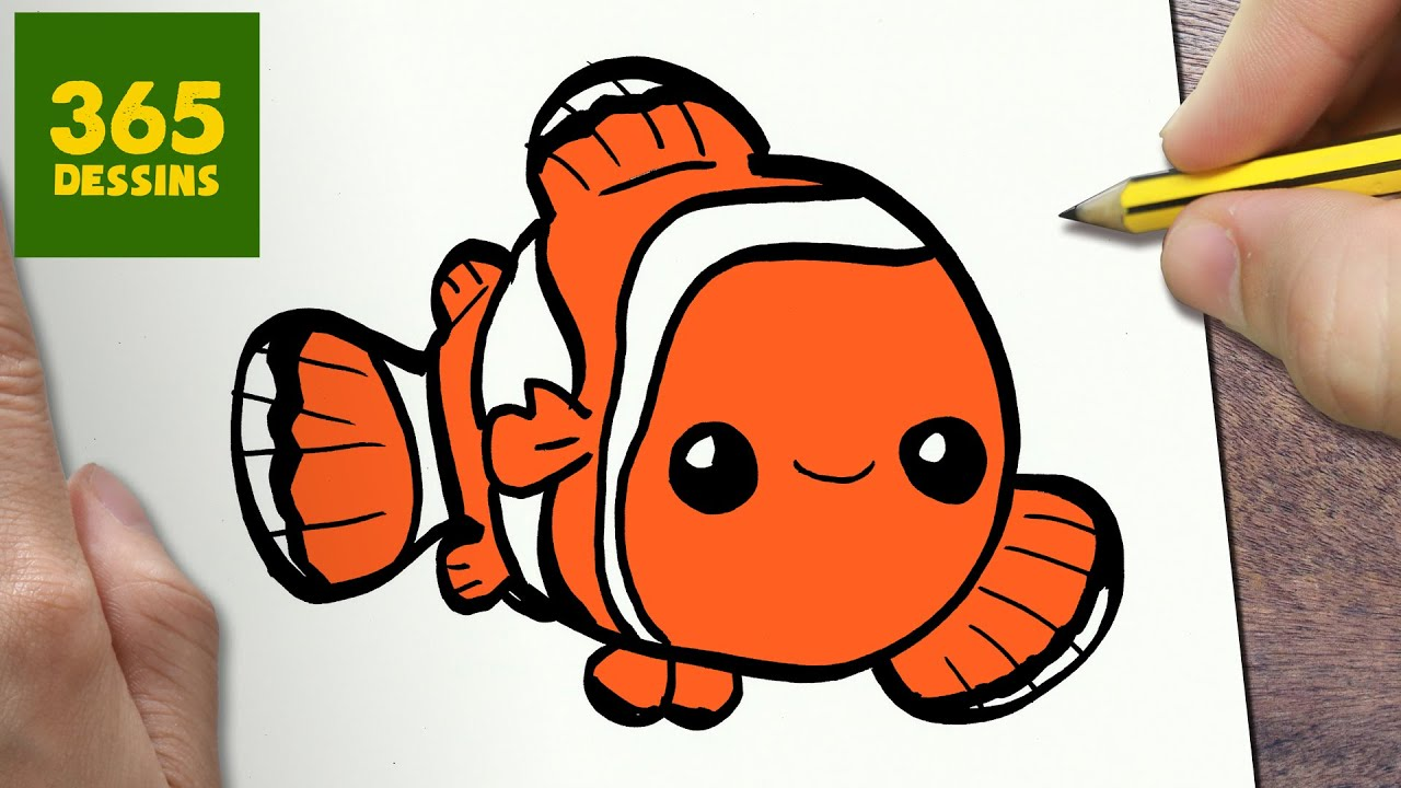 Comment dessiner nemo kawaii tape par tape dessins kawaii facile youtube - Dessin de poisson facile ...