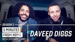 Stephen Curry Shows Daveed Diggs His Endless Love for Hamilton | 5 Minutes from Home