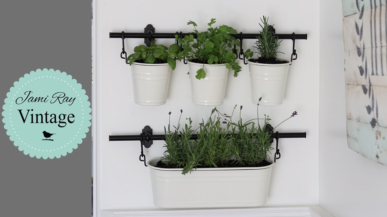 Ikea Window Panels Ikea Kitchen Herb Garden | Hanging Herb Garden - Youtube