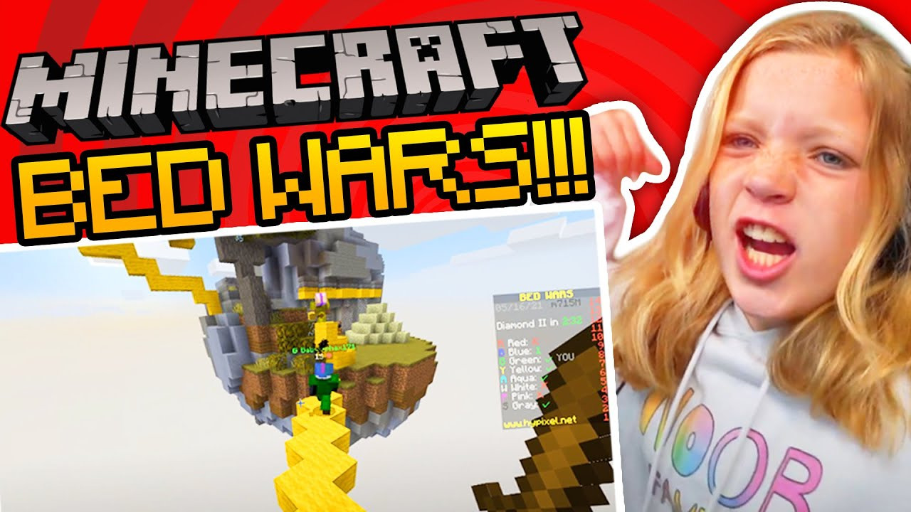 Minecraft Bed Wars With NOOB Family Launa