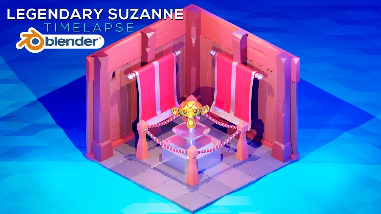 Legendary Suzanne | Timelapse | Blender 3d