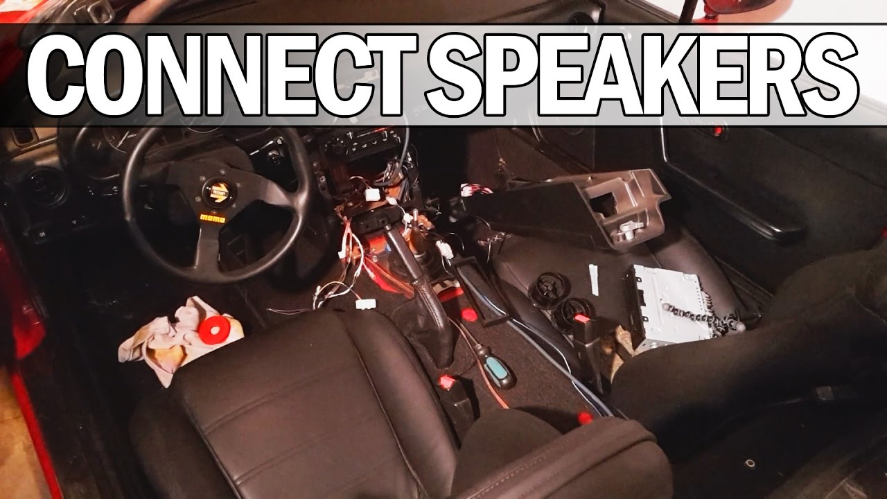 Mx5 Na Miata - How To Connect Headrest Speakers To A Head Unit