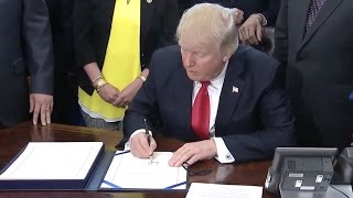 Trump Signs NASA Funding To Go To Mars- Full Ceremony And Comments