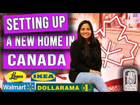I Moved  To Canada| Household Shopping| Shopping For A New Home| LEONS| DOLLARAMA| IKEA|WALMART