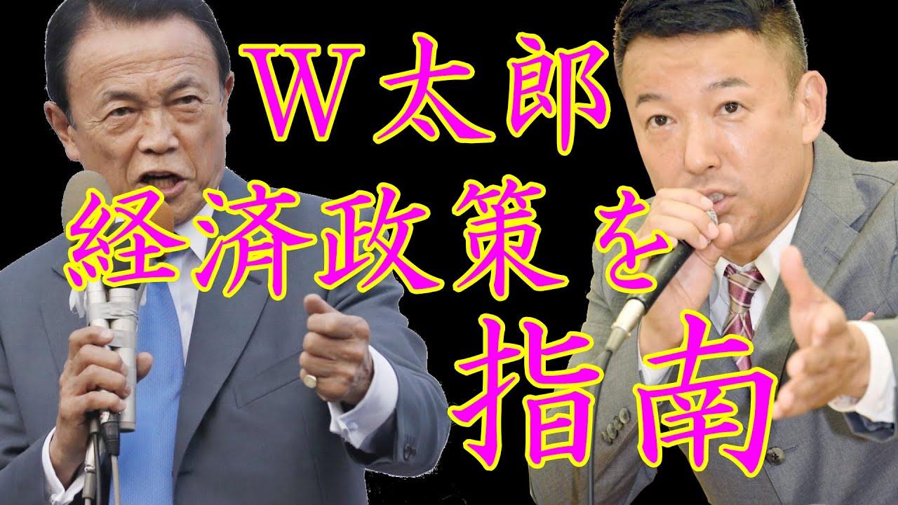 【れいわ新選組】W太郎がマクロ経済を語る【8年前の綺麗な麻生太郎とデフレ脱却に覚醒した山本太郎】