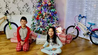 Christmas Morning 2017 Kids open presents! Dolls , Lego , Bikes and More!
