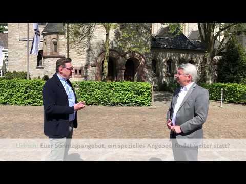 Kirche zu Zeiten der Corona-Krise: Bürgermeister Lutz Urbach spricht mit Kreisdechant Norbert Hörter