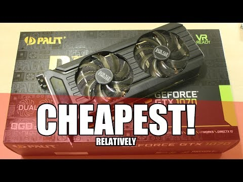Best Cheap GTX 1070? - Palit GTX 1070 Dual Fan Unboxing and Review