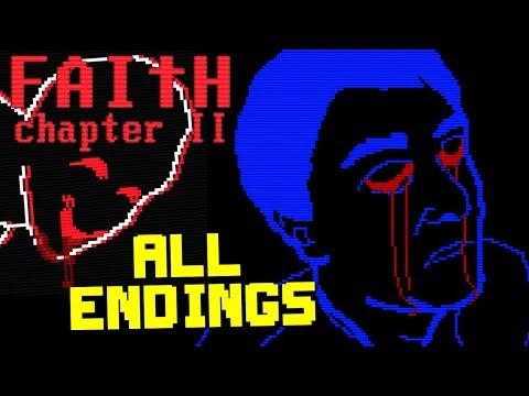 FAITH : Chapter II - Retro Horror ( ALL ENDINGS / FULL PLAYTHROUGH )Manly Let's Play